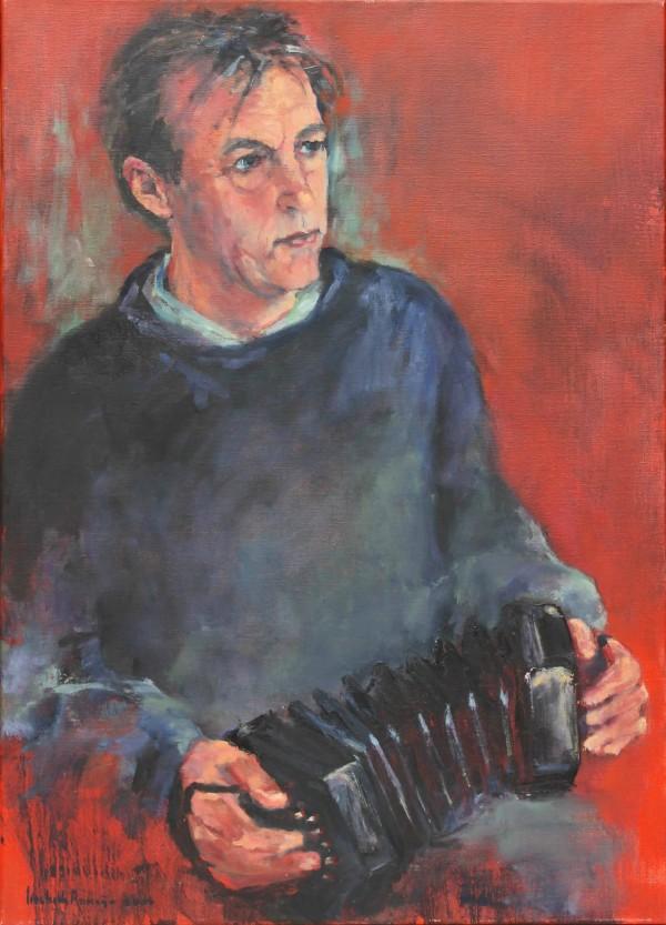 muzikant, met concertina   (90*65)